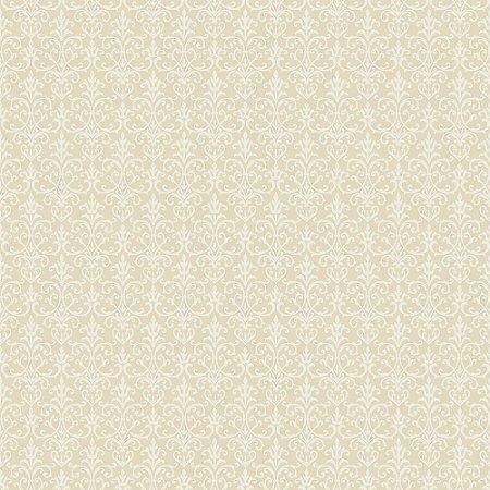 Tricoline Arabesque Creme, 100% Algodão, Unid. 50cm x 1,50mt