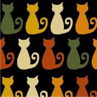 Tricoline Gato Miau  - 100% Algodão, Unid. 50cm x 1,50mt