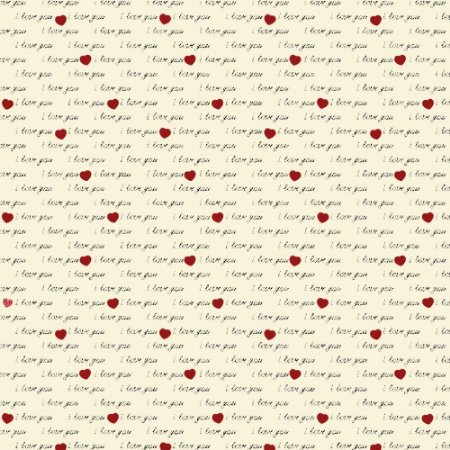 Tricoline I Love You Creme, 100% Algodão, Unid. 50cm x 1,50mt