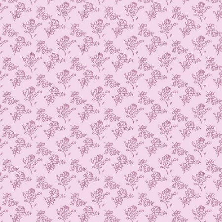 Tricoline Mini Rosinhas Rosa, 100% Algodão, Unid. 50cm x 1,50mt