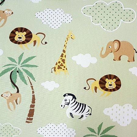 Tricoline Safari - Verde, 100% Algodão, Unid. 50cm x 1,50mt