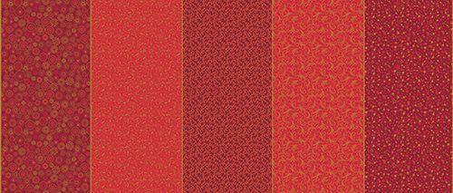 Tricoline Faixa Natalina Vermelha  - 100% Algodão, Unid. 50cm x 1,50mt