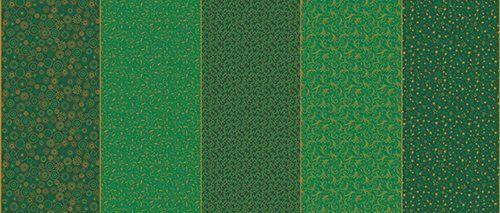 Tricoline Faixa Natalina Verde  - 100% Algodão, Unid. 50cm x 1,50mt