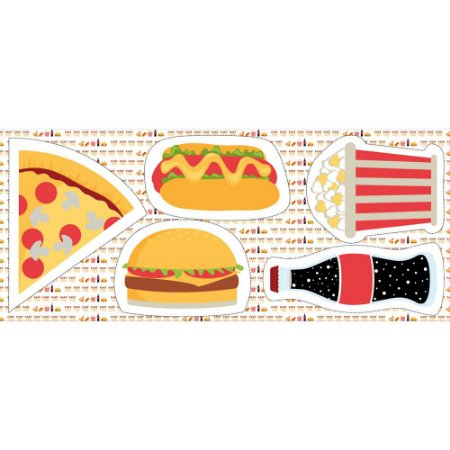 Tricoline Painel Fast Food, 100% Algodão, Unid. 63cm x 1,50mt