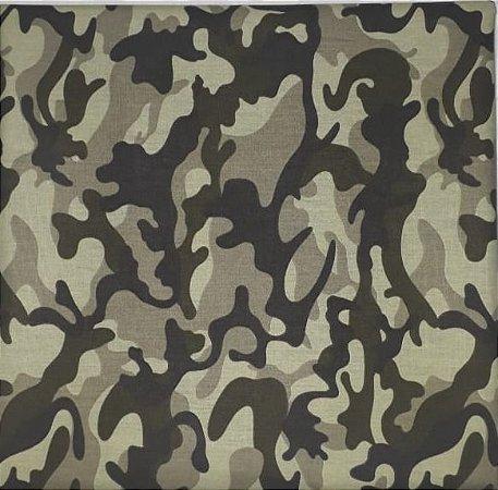 Tricoline Camuflado 100% Algodão, Unid. 50cm x 1,50mt
