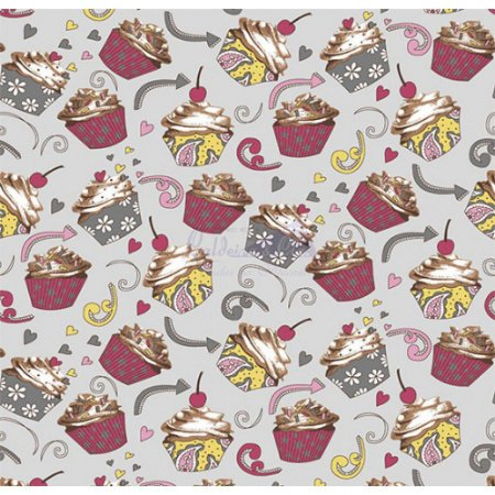 Tricoline Cupcake Cor - 06 (Cinza), 100% Algodão, Unid. 50cm x 1,50mt