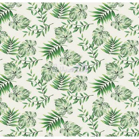 Tricoline Costela De Adão - Cor 01 (Verde), 100% Algodão, Unid. 50cm x 1,50mt
