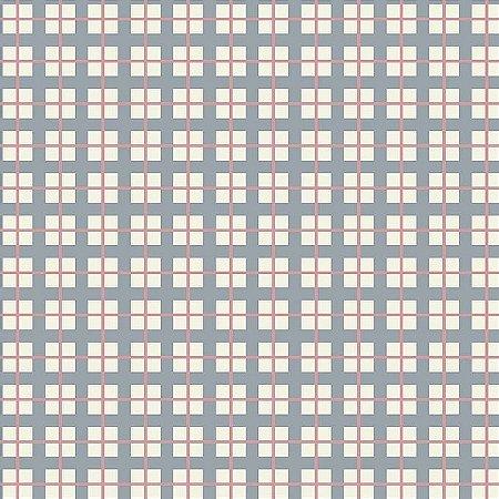 Tricoline Xadrez Azul e Rosa, 100% Algodão, Unid. 50cm x 1,50mt
