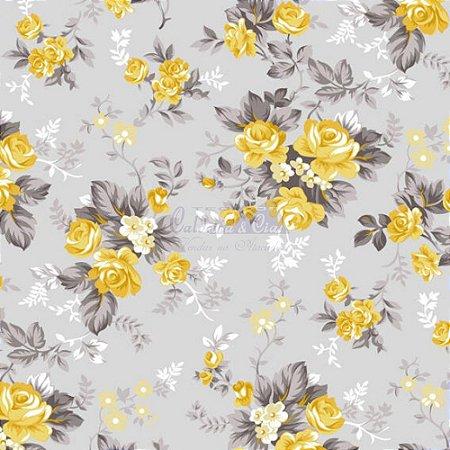 Tricoline Iris - Cor17 (Amarelo) , 100% Algodão, Unid. 50cm x 1,50mt
