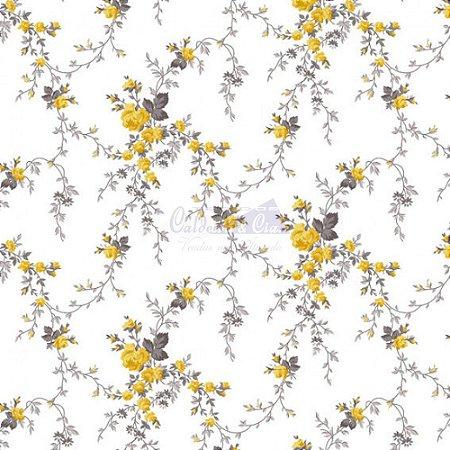 Tricoline Sarah - Cor 17 (Amarelo), 100% Algodão, Unid. 50cm x 1,50mt