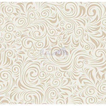 Tecido Arabesco Verona Cor - 03 (Bege), 100% Algodão, Unid. 50cm x 1,50mt