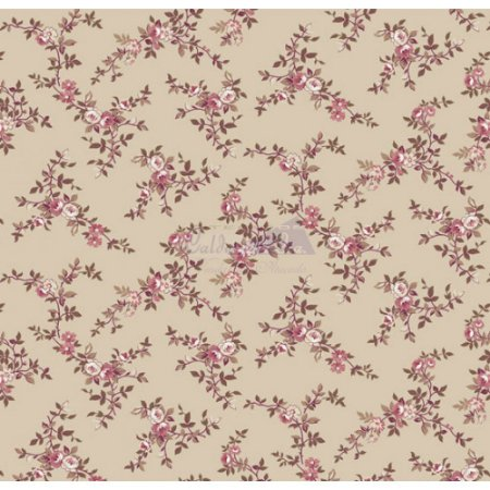 Tecido Floral Di Rose Cor - 03 (Bege), 100% Algodão, Unid. 50cm x 1,50mt