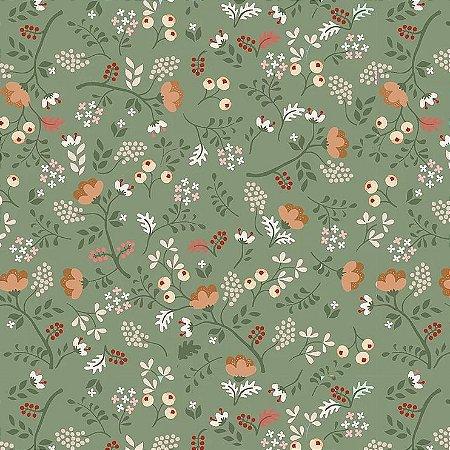 Tricoline Digital Mini Floral Viva La Vida Country 100% Algodão, Unid. 50cm x 1,50mt
