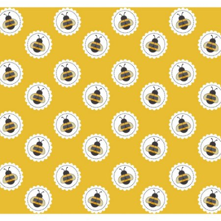 Tricoline Bee Lace Mostarda, 100% Algodão, Unid. 50cm x 1,50mt