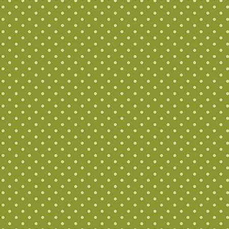 Tricoline Poá Tom Tom (Verde Pistache) - 100% Algodão, Unid. 50cm x 1,50mt