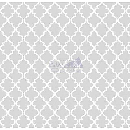 Tricoline Estampado Ana Cor - 04 (Cinza), 100% Algodão, Unid. 50cm x 1,50mt
