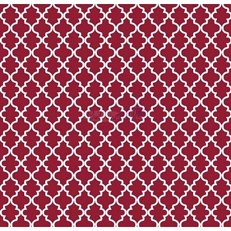 Tricoline Estampado Ana Cor - 11 (Vermelho), 100% Algodão, Unid. 50cm x 1,50mt