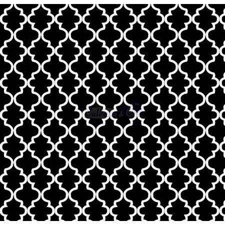 Tricoline Estampado Ana Cor - 13 (Preto), 100% Algodão, Unid. 50cm x 1,50mt