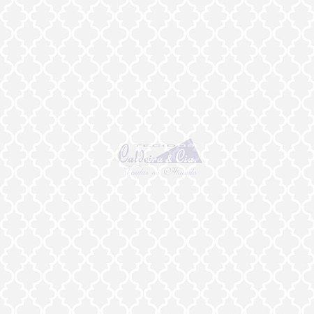 Tricoline Estampado Ana Cor - 25 (Branco), 100% Algodão, Unid. 50cm x 1,50mt