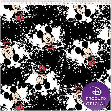 Tricoline Personagem Mickey Fun, 100% Algodão, Unid. 50cm x 1,50mt
