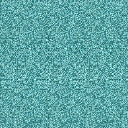 Tricoline Micro Caracol Turmalina, 100% Algodão, Unid. 50cm x 1,50mt