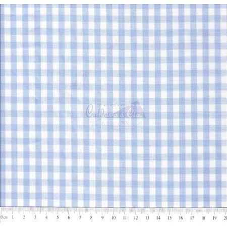 Tricoline Xadrez Azul Fio Tinto, 100% Algodão, Unid. 50cm x 1,50mt