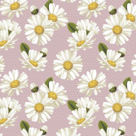 Tricoline Daisy com Poá Rosê, 100% Algodão, Unid. 50cm x 1,50mt