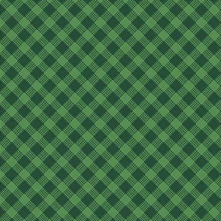 Tricoline Estampado Xadrez Diagonal Verde Bandeira - 100% Algodão, Unid. 50cm x 1,50mt