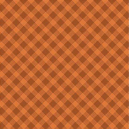 Tricoline Estampado Xadrez Diagonal Caramelo - 100% Algodão, Unid. 50cm x 1,50mt