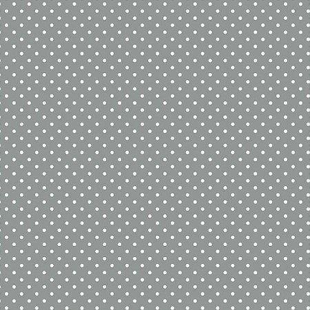 Tricoline Micro Poá Cinza, 100% Algodão, Unid. 50cm x 1,50mt