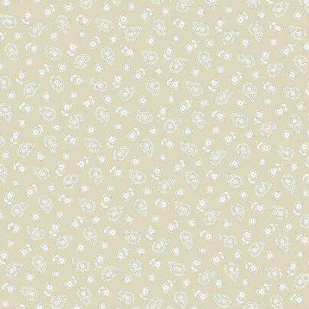 Tricoline Estampado Mini Cashmere Creme, 100% Algodão, Unid. 50cm x 1,50mt
