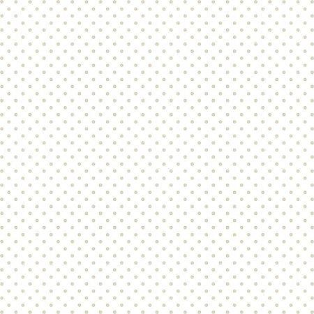 Tricoline Estampado Mini Poá Creme, 100% Algodão, Unid. 50cm x 1,50mt