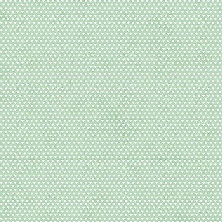 Tricoline Estampado Mini Corações Verde Claro, 100% Algodão, Unid. 50cm x 1,50mt