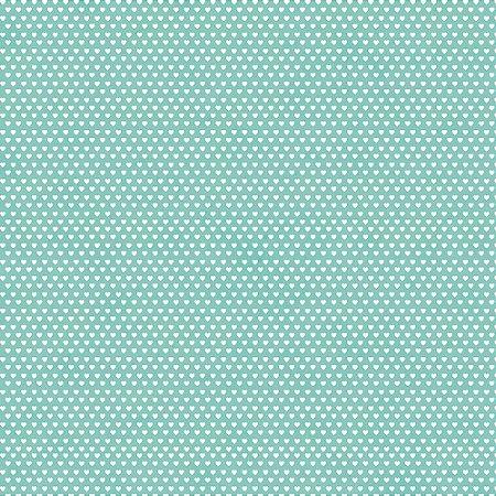 Tricoline Estampado Mini Corações Tiffany, 100% Algodão, Unid. 50cm x 1,50mt
