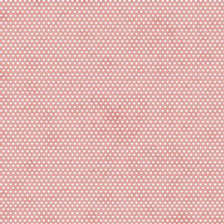 Tricoline Estampado Mini Corações Rose, 100% Algodão, Unid. 50cm x 1,50mt
