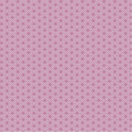 Tricoline Estampado Oriente Geométrico Rosa, 100% Algodão, Unid. 50cm x 1,50mt