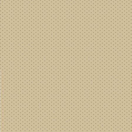 Tricoline Estampado Poá Tom Tom Marrom Claro, 100% Algodão, Unid. 50cm x 1,50mt