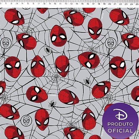 Tricoline Personagem Homem Aranha, 100% Algodão, Unid. 50cm x 1,50mt