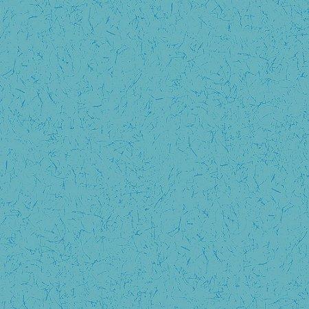 Tricoline Estampado Grafiato Azul Capri, 100% Algodão, Unid. 50cm x 1,50mt