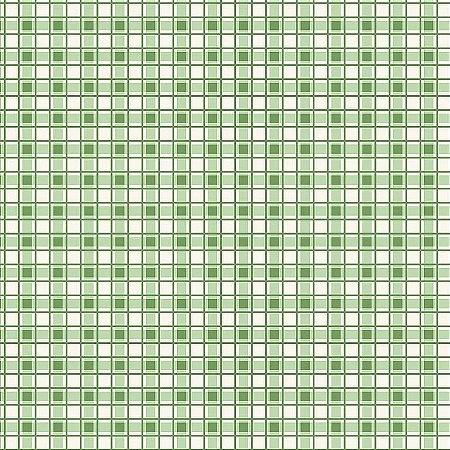 Tricoline Estampado Xadrez Frutas Verde, 100% Algodão, Unid. 50cm x 1,50mt