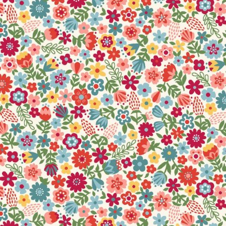 Tecido Tricoline Estampado Floral Esperança Pequeno Claro, 100% Algodão, Unid. 50cm x 1,50mt