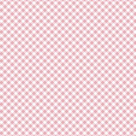 Tricoline Estampado Mini Xadrez Diagonal Rosa - 100% Algodão, Unid. 50cm x 1,50mt