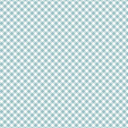 Tricoline Estampado Mini Xadrez Diagonal Azul - 100% Algodão, Unid. 50cm x 1,50mt