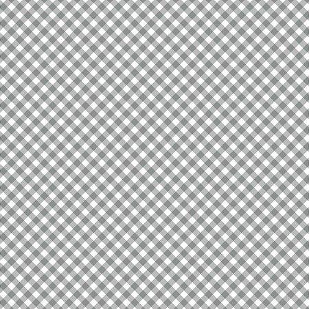 Tricoline Estampado Mini Xadrez Diagonal Cinza - 100% Algodão, Unid. 50cm x 1,50mt