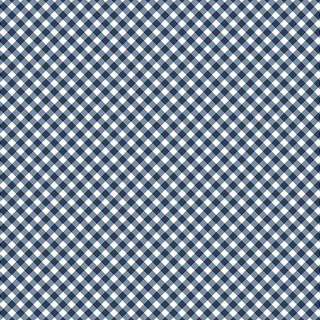Tricoline Estampado Mini Xadrez Diagonal Marinho- 100% Algodão, Unid. 50cm x 1,50mt