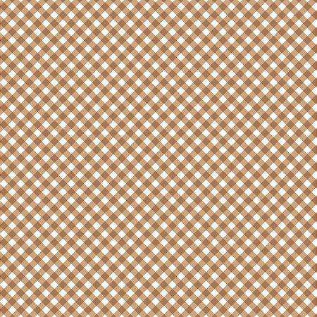 Tricoline Estampado Mini Xadrez Diagonal Bege- 100% Algodão, Unid. 50cm x 1,50mt