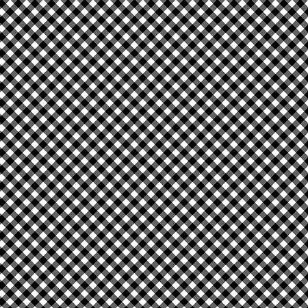 Tricoline Estampado Mini Xadrez Diagonal Preto- 100% Algodão, Unid. 50cm x 1,50mt