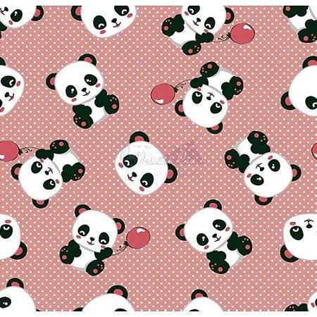 Tecido Tricoline Panda (Nude), 100% Algodão, Unid. 50cm x 1,50mt