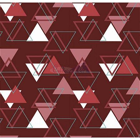 Tecido Tricoline Memphis (Vermelho), 100% Algodão, Unid. 50cm x 1,50mt