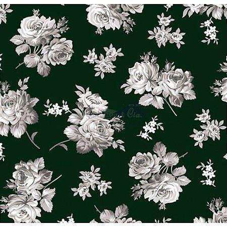 Tecido Tricoline Jasmine (Preto), 100% Algodão, Unid. 50cm x 1,50mt